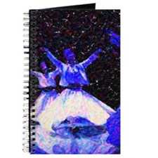 Whirling Dervishes in blue dots Journal