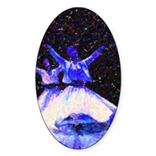 Whirling Dervishes in blue dots Decal