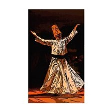 whirling sufi dervish boy sket Decal