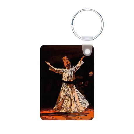 whirling sufi dervish boy Aluminum Photo Keychain
