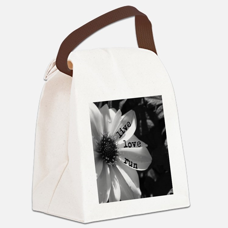 Live Love Run by Vetro Designs Canvas Lunch Bag