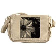 Live Love Run by Vetro Designs Messenger Bag