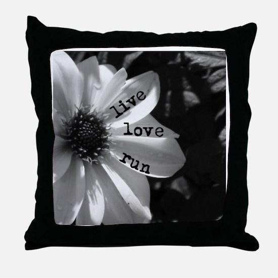 Live Love Run by Vetro Designs Throw Pillow