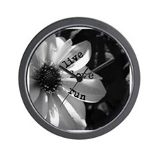 Live Love Run by Vetro Designs Wall Clock