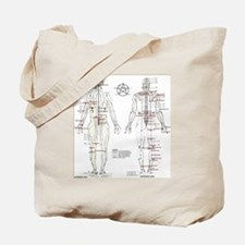Chinese Meridians and Pressure points Tote Bag