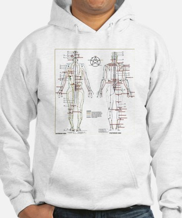 Chinese Meridians and Pressure p Hoodie
