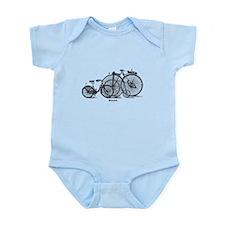 Vintage Bicycles Trio Infant Bodysuit