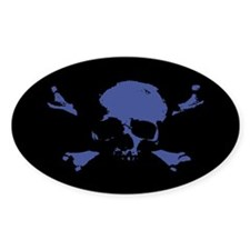 Scalawag 1a-blu Oval Decal