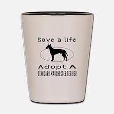 Adopt A Standard Manchester Terrier Dog Shot Glass