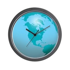 Earth Wall Clock