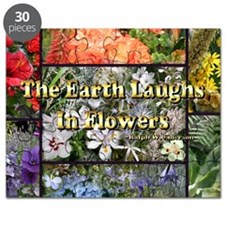 Rainbow colored Earth Laughs in Flowers  Puzzle