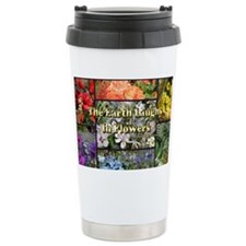 Rainbow colored Earth Laughs in Travel Mug