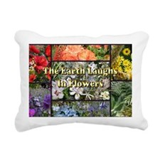 Rainbow colored Earth La Rectangular Canvas Pillow