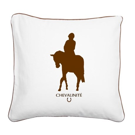 Horse Theme Square Canvas Pillow #5050