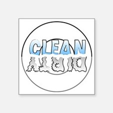 """Clean/Dirty Label Square Sticker 3"""" x 3"""""""
