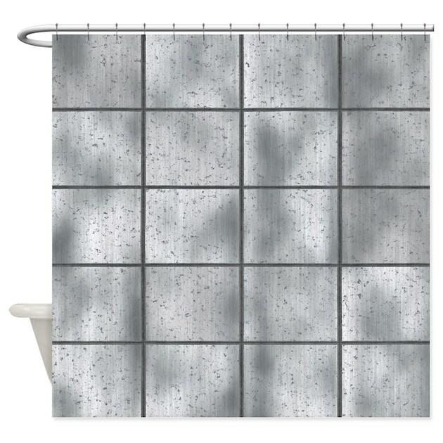 metallic rust and worn shower curtain by ursinelogic