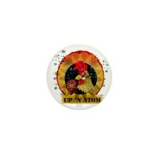 Classic Kitsch WWII Nose Art Up n' Ato Mini Button