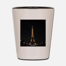 Eiffel Tower, Paris France at Night Shot Glass