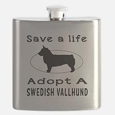 Adopt A Swedish Vallhund Dog Flask