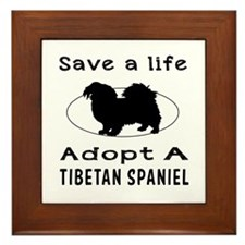 Adopt A Tibetan Spaniel Dog Framed Tile
