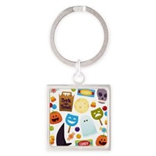trick or treat v2 Square Keychain