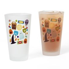 trick or treat v2 Drinking Glass