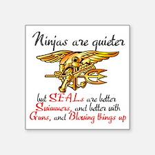 """Ninja SEALs Square Sticker 3"""" x 3"""""""