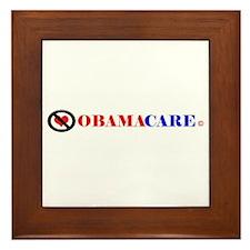 No Obamacare Framed Tile
