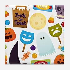 trick or treat v2 Tile Coaster