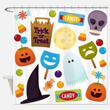 trick or treat v2 Shower Curtain