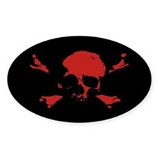 Scalawag 1a-red Oval Decal