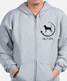Black and Tan Coonhound Zip Hoodie