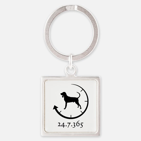 Black and Tan Coonhound Square Keychain