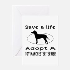 Adopt A Toy Manchester Terrier Dog Greeting Card