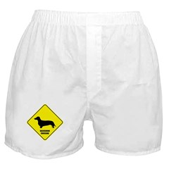 Dachshund Crossing Boxer Shorts