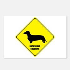 Dachshund Crossing Postcards (Package of 8)