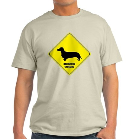 Dachshund Crossing Ash Grey T-Shirt