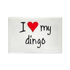 I LOVE MY Dingo Rectangle Magnet (10 pack)