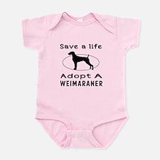 Adopt A Weimaraner Dog Infant Bodysuit