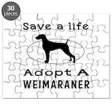 Adopt A Weimaraner Dog Puzzle