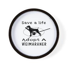 Adopt A Weimaraner Dog Wall Clock