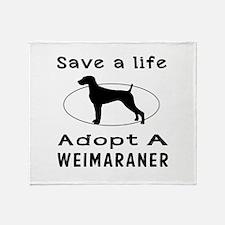 Adopt A Weimaraner Dog Throw Blanket