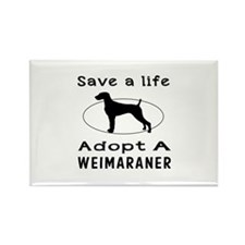 Adopt A Weimaraner Dog Rectangle Magnet