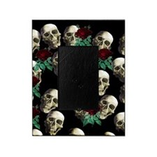 Grinning Skulls and Roses Picture Frame