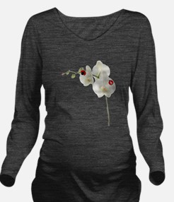 Lady Bugs Orchid.png Long Sleeve Maternity T-Shirt
