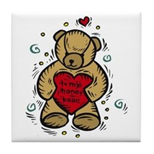 Valentine Bear Tile Coaster