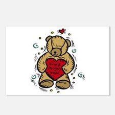Valentine Bear Postcards (Package of 8)