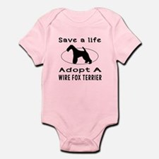 Adopt A Wire Fox Terrier Dog Infant Bodysuit