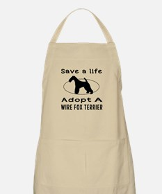Adopt A Wire Fox Terrier Dog Apron