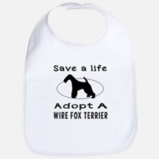 Adopt A Wire Fox Terrier Dog Bib
